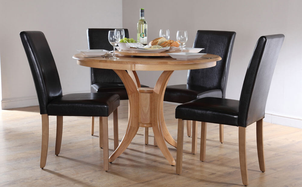 Dining Table Sets 4 Chairs Round Dining Tables With Fitted Chairs Interior Home Designs Pictures Transmedia Pustaka
